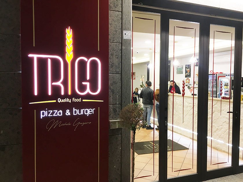 Trigo. Quality food. Pizza & Burger. Teverola (Ce) - Ingresso